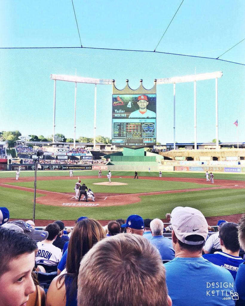 Baseball Game in Kansas City